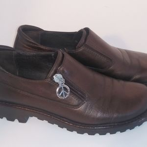 Donald J Pliner Womens Shoes 5 M Brown Leather Loa